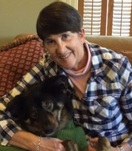Barb pictured with her dog Liam